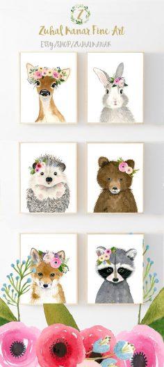 Verkauf Blume Krone Baby Waldtiere Waldtiere  – zuhalkanar