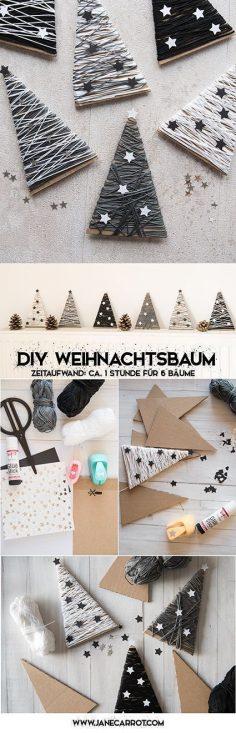 Tannenbäume aus Pappe & Wolle | DIY | perfekt für die Tischdeko oder als Geschenkverpackung | Weihnachten ähnliche tolle Projekte und Ideen wie im Bild vorgestellt findest du auch in unserem Magazin . Wir freuen uns auf deinen Besuch. Liebe Grüß…  – jenfirth93
