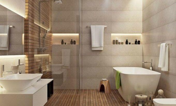 Bad schwarz und Holz Bild Bad einfache Inspiration Bad Holz ...