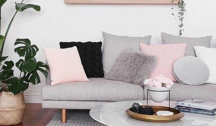 Sehr weiche und feminine Salon-Deko-Idee, weiße Lounge ...